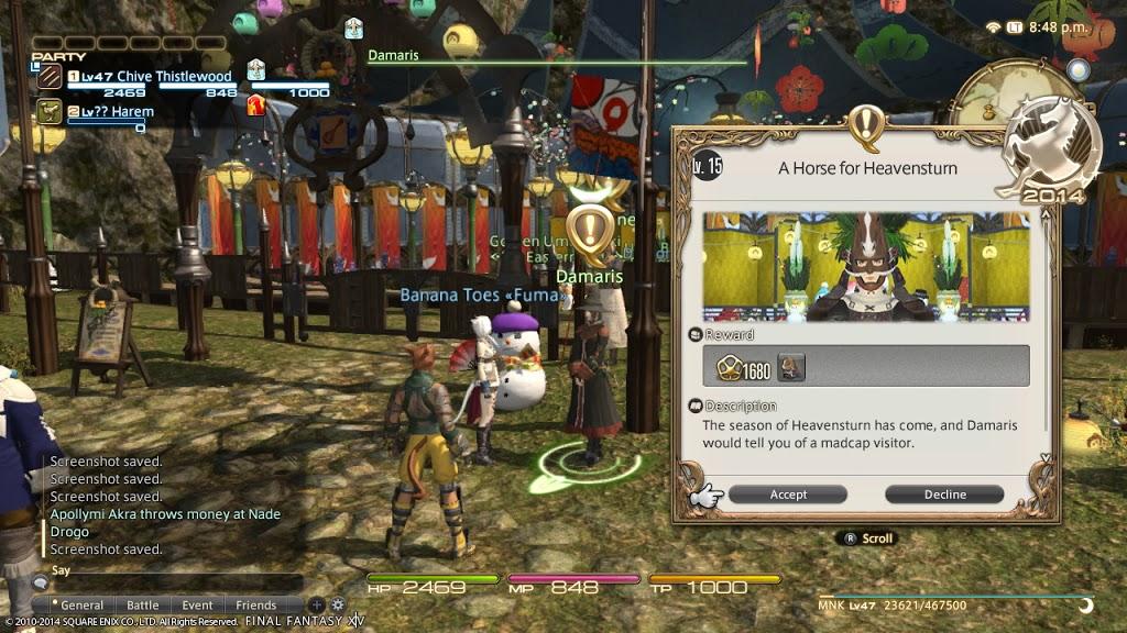 Final Fantasy XIV Heavensturn New Year's Event Tutorial + ...