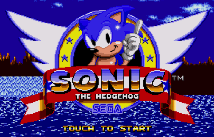Sonic the Hedgehog start screen
