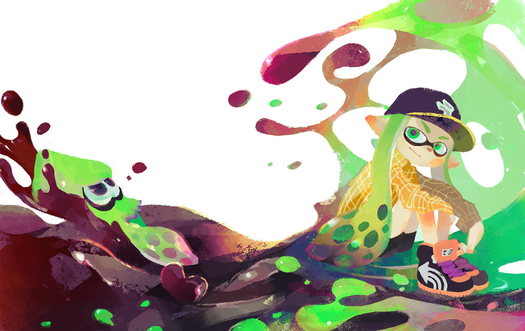 Official Splatoon Valentine's Day art