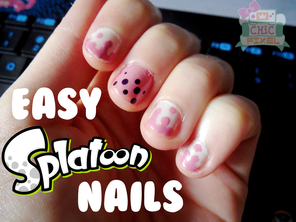 Easy Splatoon Nail Art
