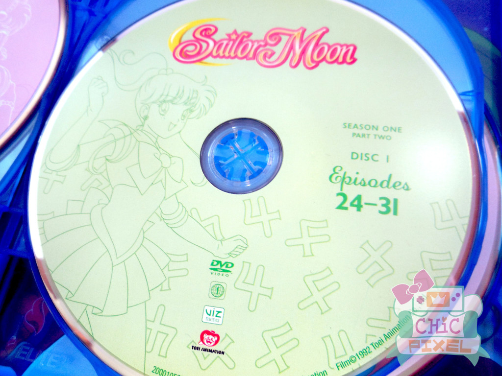 Sailor Moon Season 1, Set 2 DVD/Blu-Ray Combo Pack Disc Art