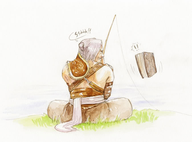 Nier fishing fanart
