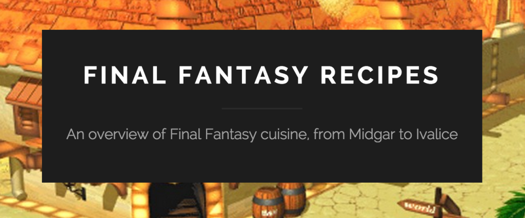 Final Fantasy Recipes banner
