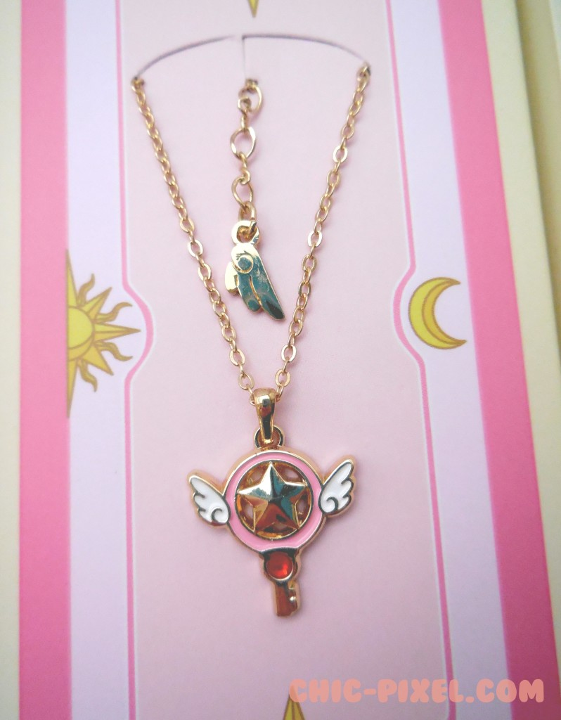 Card Captor Sakura Star Key Necklace Closeup