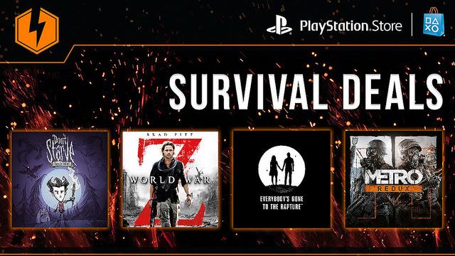 PSN Survival Deals Flash Sale