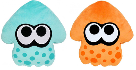 Splatoon Squid Cushion Turquoise Orange