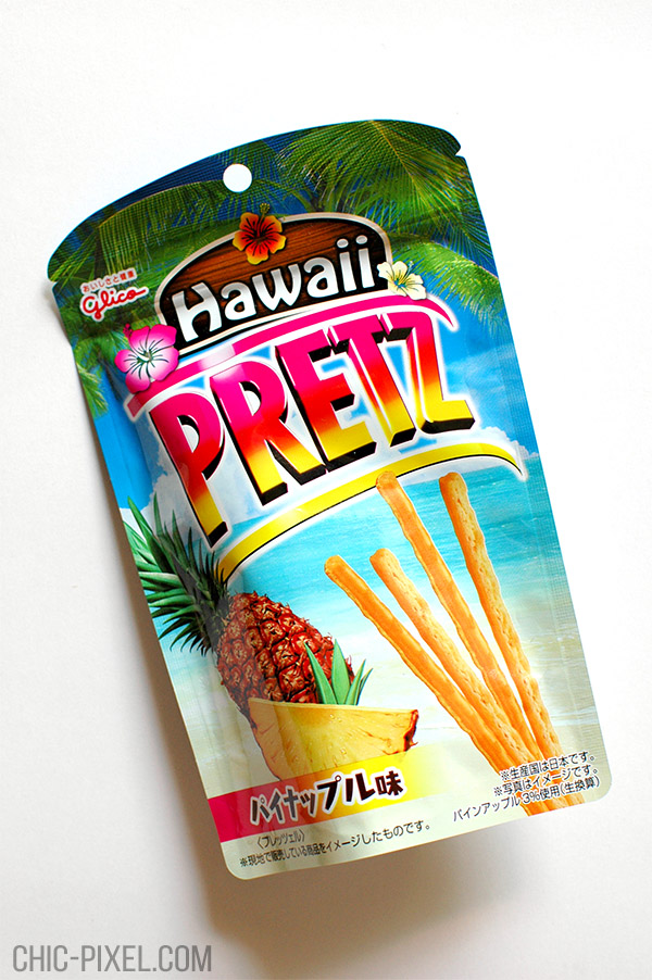 Oyatsu Cha Cha Cha Japanese snack subscription box Hawaii Pretz pineapple flavor