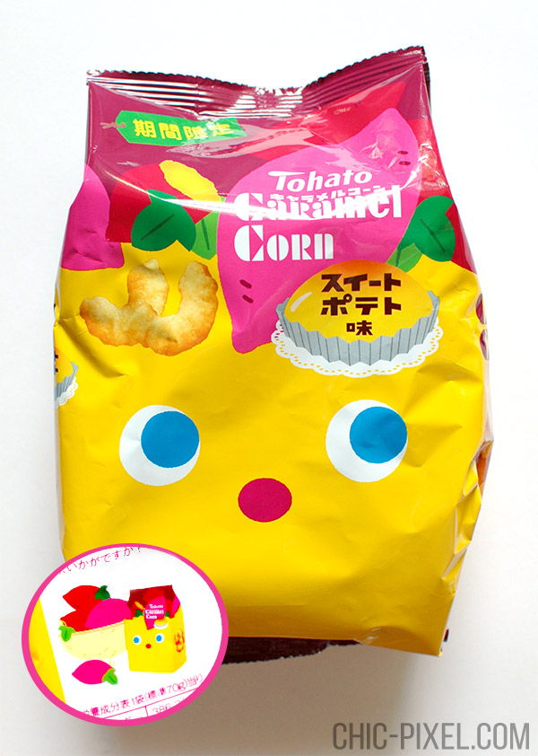 Oyatsu Cha Cha Cha Japanese snack subscription box sweet potato caramel corn
