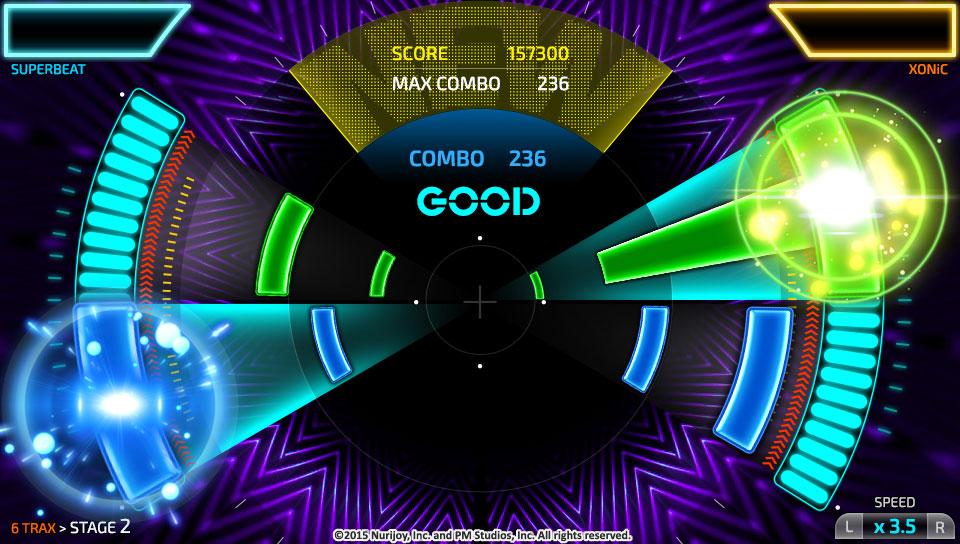 Superbeat Xonic gameplay screenshot