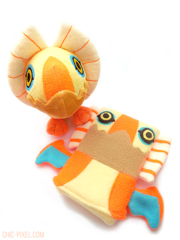 Yian Kut Ku Handmade 3DS Case Flea Circus Designs official plush comparison