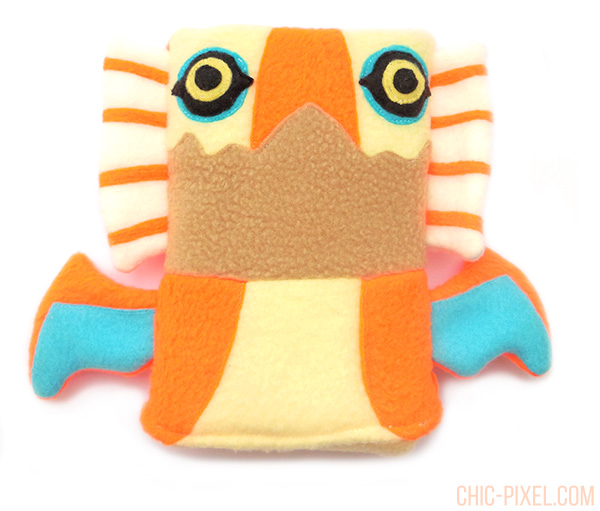 Yian Kut Ku Handmade 3DS Case Flea Circus Designs closeup