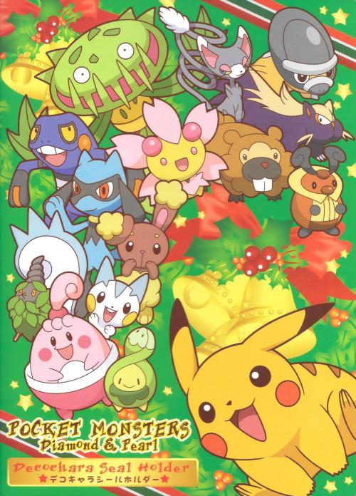 Pokemon Decochara Seal Holder Christmas