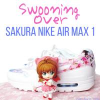 Sakura Nike Air Max 1 sneakers with Cardcaptor Sakura Nendoroid
