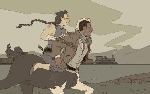 Hotblood! webcomic illustration centaurs 2