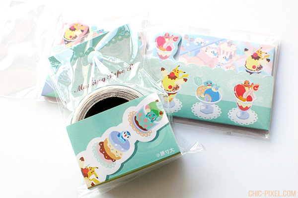 PokeMikke ice cream stationery closeup