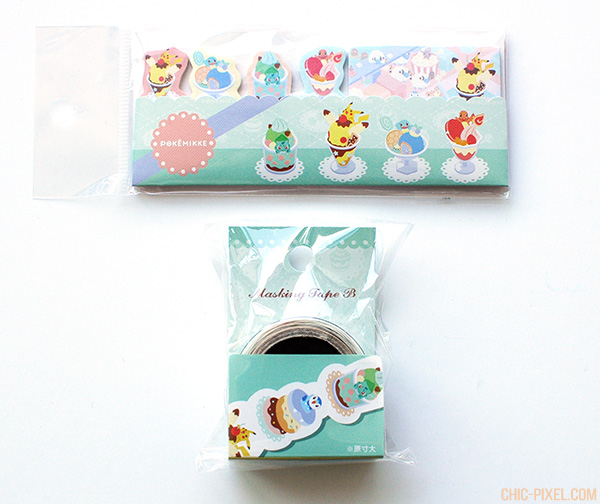 PokeMikke ice cream stationery