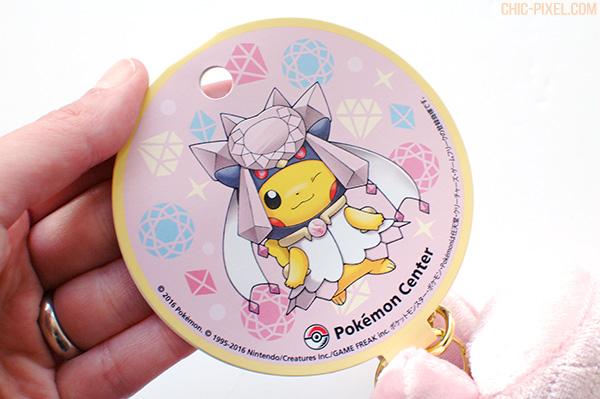 Pikachu Mega Diancie poncho plush tag