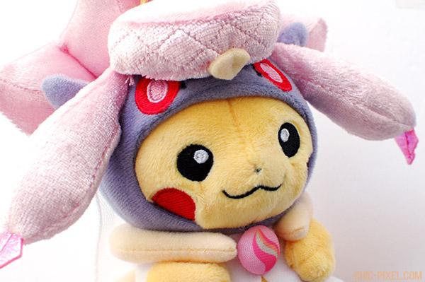 Pikachu Mega Diancie poncho plush closeup