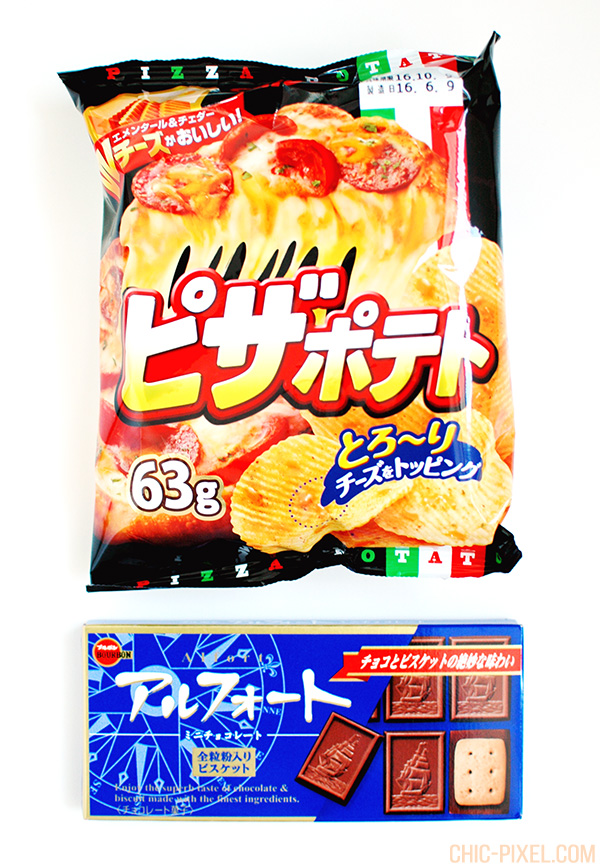 Japan Funbox subscription box contents pizza potato chips