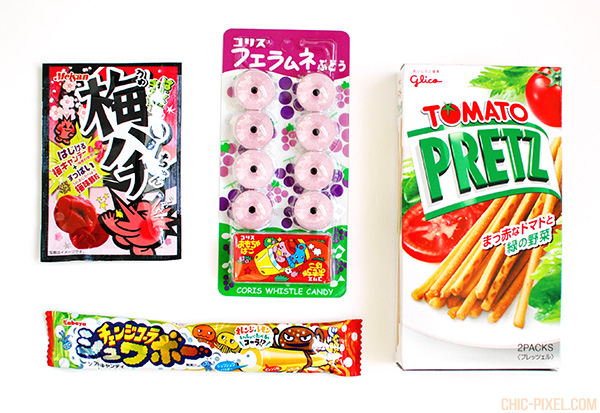 Japan Funbox subscription box contents Pretz ramune candy