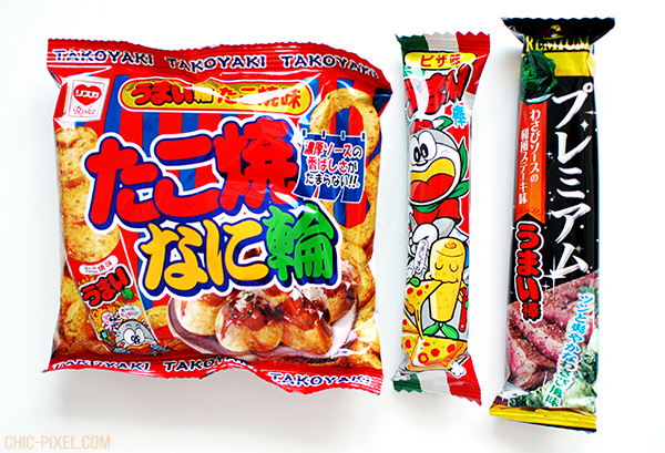 OyatsuBox July 2016 Dagashi Edition snacks 1