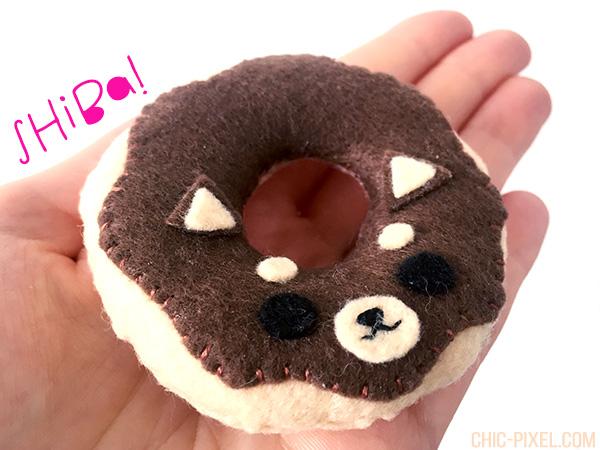 Felt Shiba Donut Chic Pixel