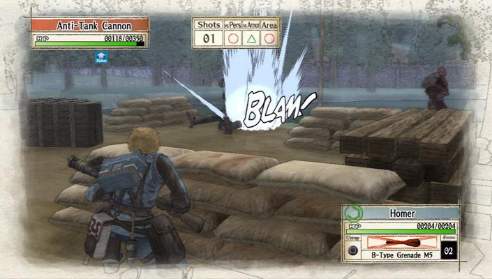 Valkyria Chronicles gameplay screenshot
