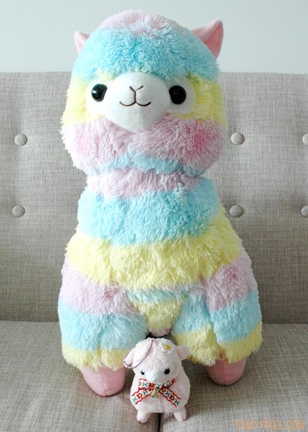 Rainbow Alpacasso Amuse plush review size comparison