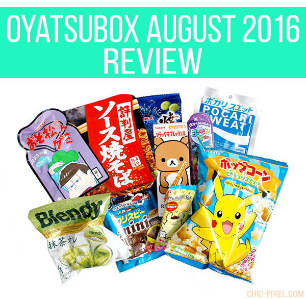 OyatsuBox August 2016 Review Chic Pixel