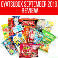 Oyatsubox Japanese snack subscription box September 2016 review
