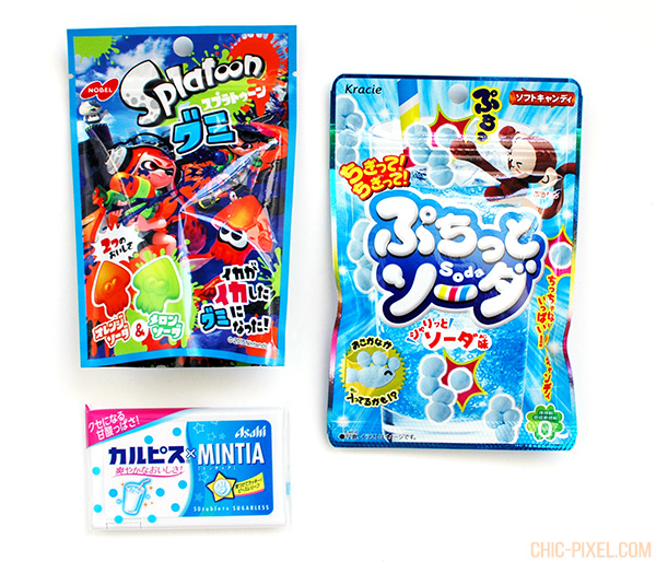 Oyatsubox Japanese snack subscription box September 2016 review Splatoon gummies sand blue snacks