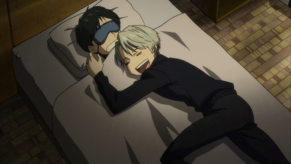 Yuri on Ice sleep screenshot