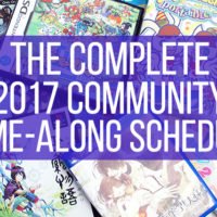 Complete 2017 Community Game-Along Schedule