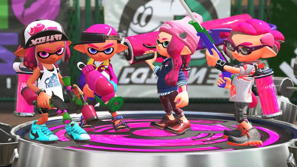Splatoon 2 pink team screenshot