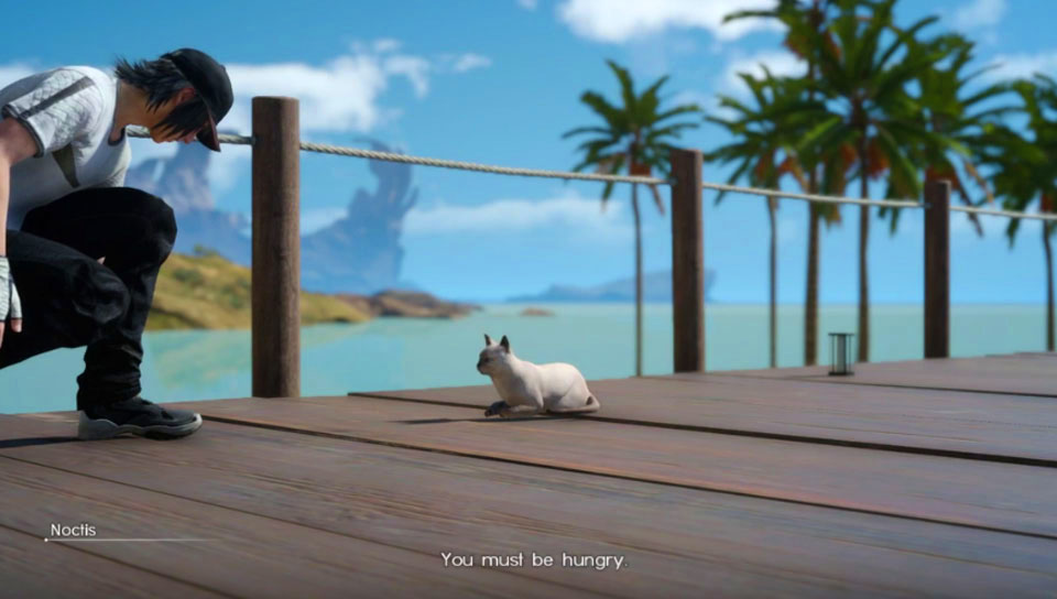 Final Fantasy XV cat quest screenshot 1