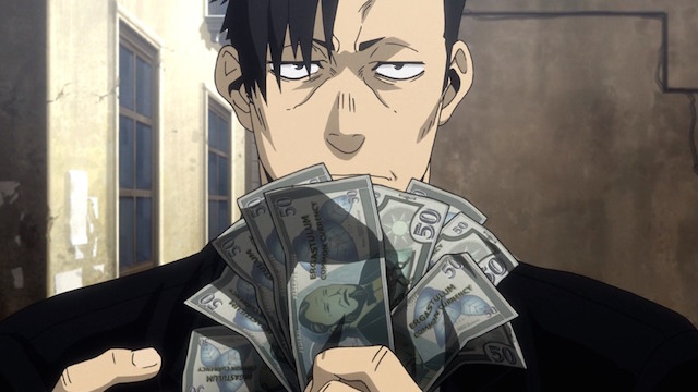 Gangsta money anime screenshot