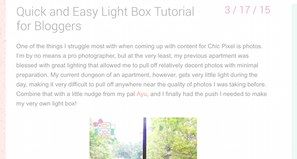 light box tutorial screenshots