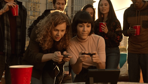 Nintendo Switch rooftop ladies