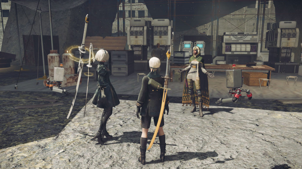 NieR: Automata review Chic Pixel 2B and 9S screenshot