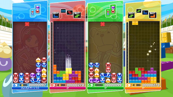 Puyo Puyo Tetris puzzle game screenshot