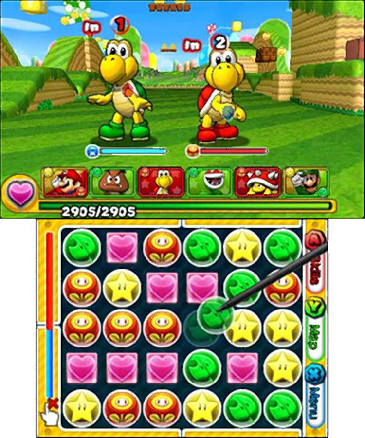 Puzzle & Dragons Super Mario Edition puzzle game screenshot
