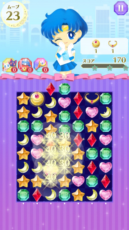 Sailor Moon Drops puzzle game screenshot