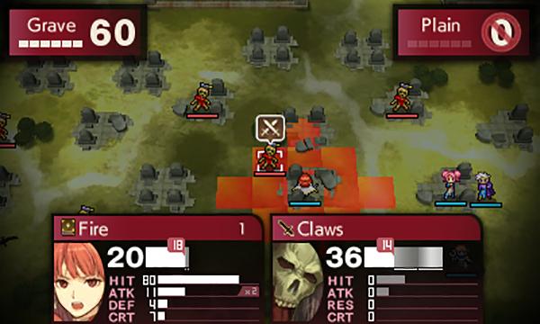 Fire Emblem Echoes Shadows of Valentia battle screenshot