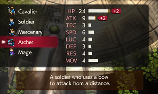 Fire Emblem Echoes Shadows of Valentia class screenshot