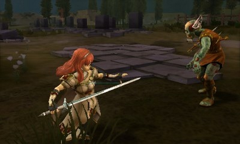 Fire Emblem Echoes Shadows of Valentia battle closeup screenshot