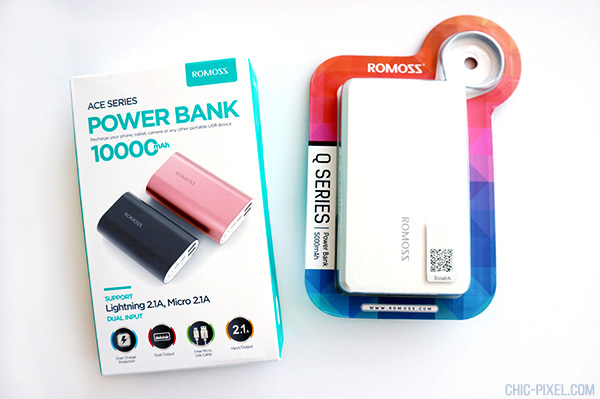 Romoss ACE 10 and Q Series Power Bank Review packaging Chic Pixel
