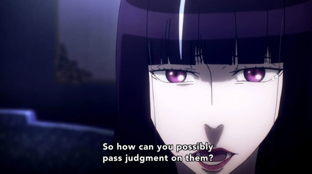 Death Parade anime black-haired woman