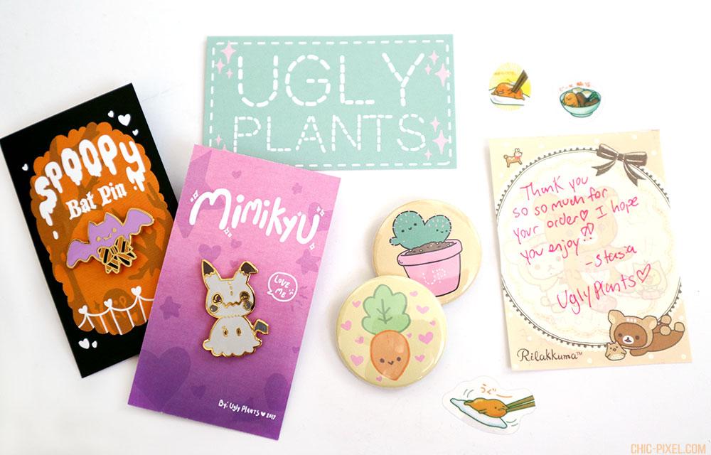 Ugly Plants Kawaii Shop Review pin haul