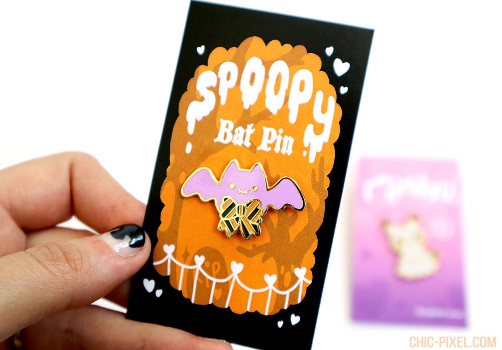 Ugly Plants Kawaii Shop Review Spoopy Bat Pin