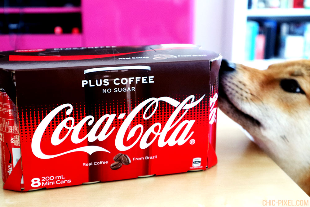 Coffee Coca-Cola with shiba inu